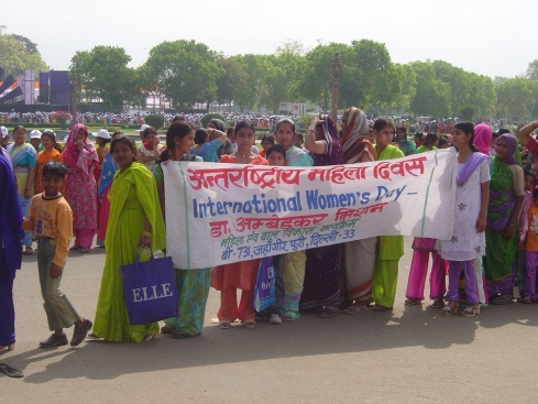 A 2008 International Women's Day demonstration in Delhi, India