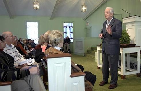 jimmy carter preaching