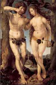 Jan Gossaert, gen. Mabuse, Adam and Eve (1520)