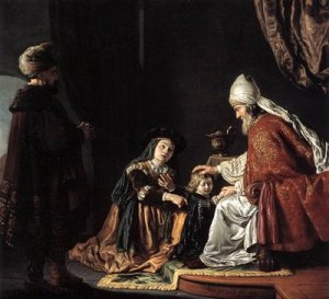Jan Victors, Hannah giving her son Samuel to the priest Eli, Staatliche Museen, Berlin, 1645