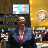 Rochelle in UN GA hall